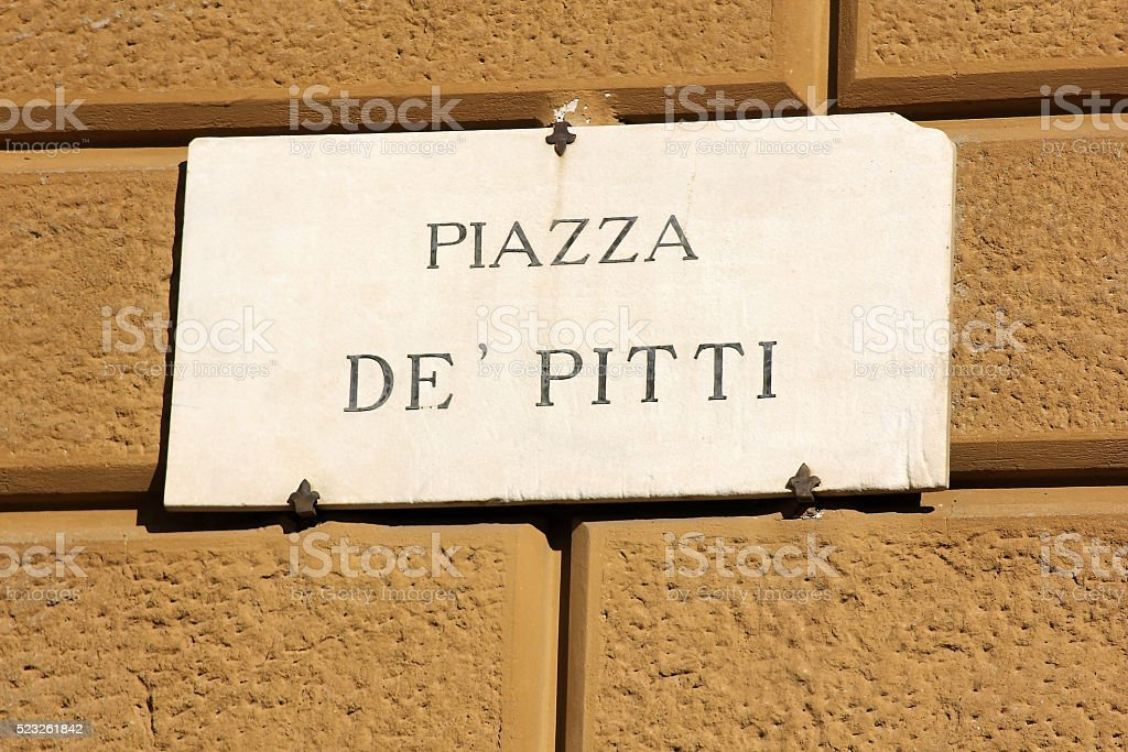piazza de Pitti in Florence, Italy stock photo