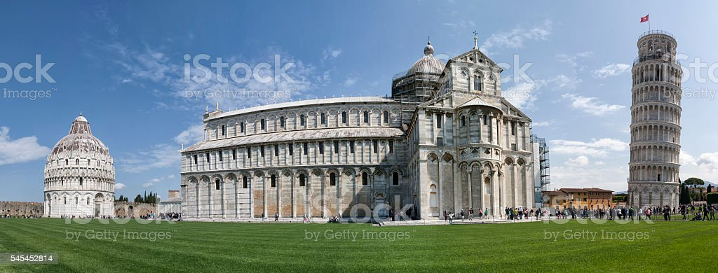 Piazza Dei Miraqcoli, Pisa stock photo