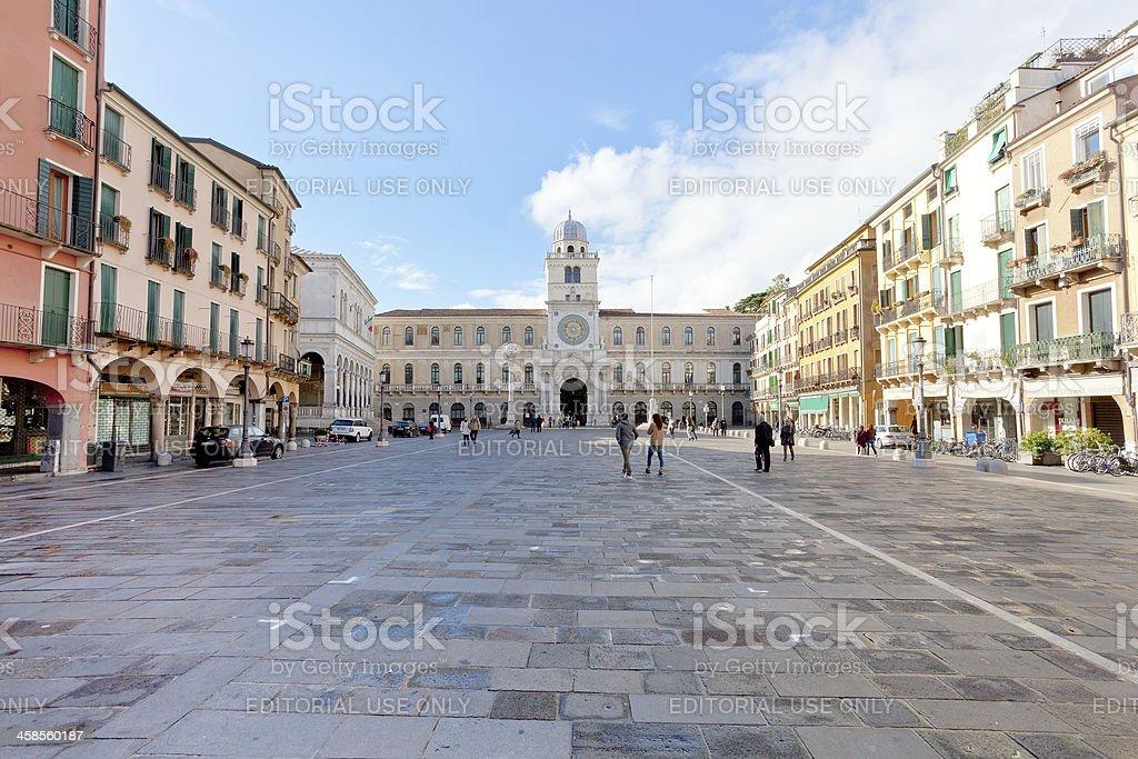 Piazza dei Signori, Padova, Italy royalty-free stock photo