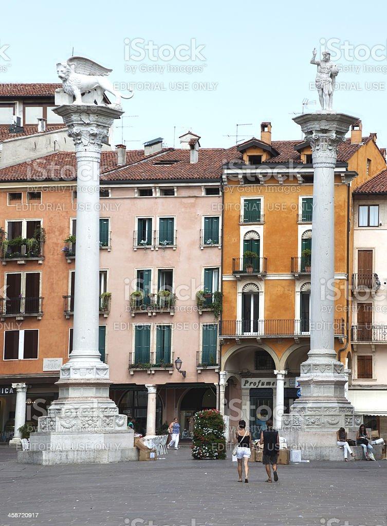 Piazza dei Signori royalty-free stock photo