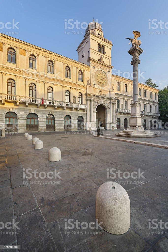 Piazza dei Signori (Padua) stock photo