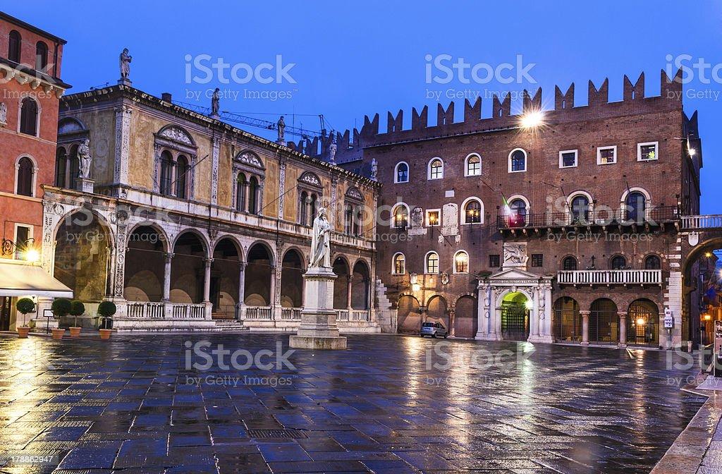 Piazza dei Signori, Verona stock photo