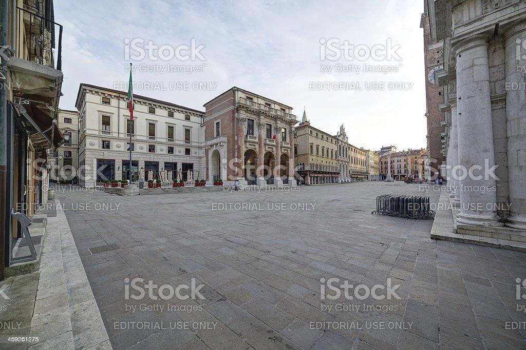 Piazza dei Signori (Square of Lords). Vicenza-Italy. royalty-free stock photo
