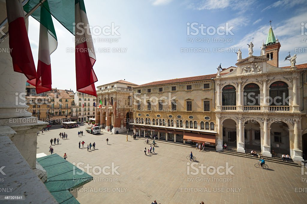 Piazza dei Signori (Square of Lords). Vicenza-Italy. stock photo