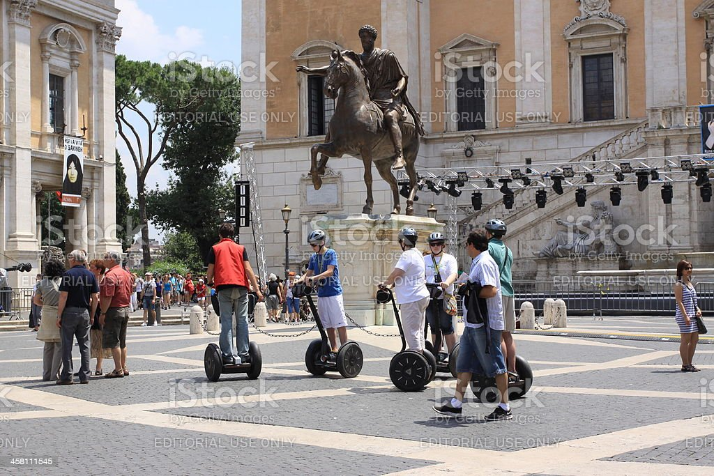 Piazza del Campidoglio royalty-free stock photo