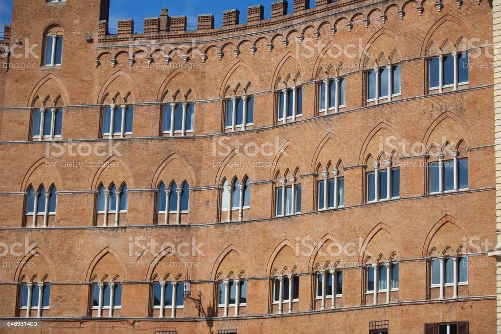 Piazza del Campo in Siena stock photo