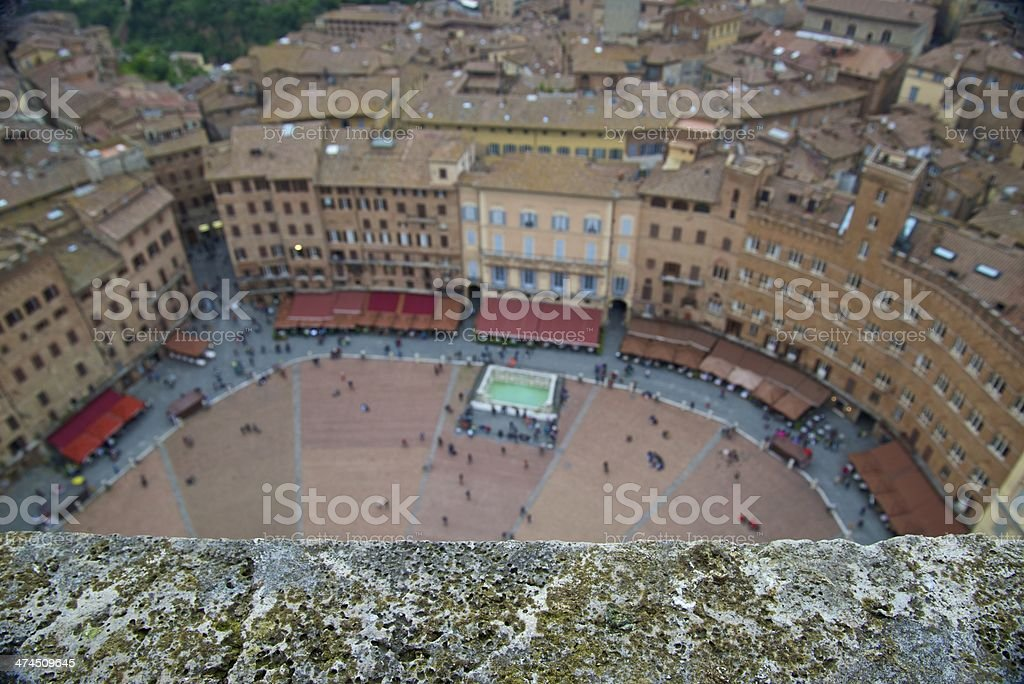Piazza del Campo - Siena, Italy royalty-free stock photo