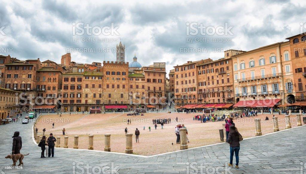 Piazza del Campo, Siena, Italy stock photo