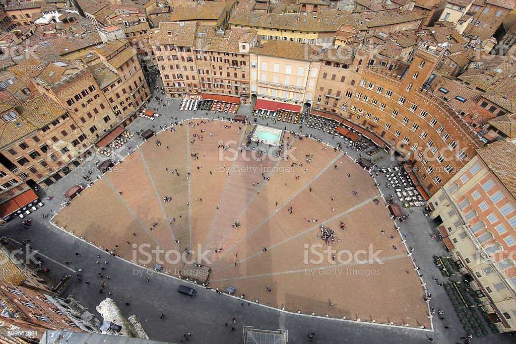 Piazza del Campo, Siena, Italy stock photo