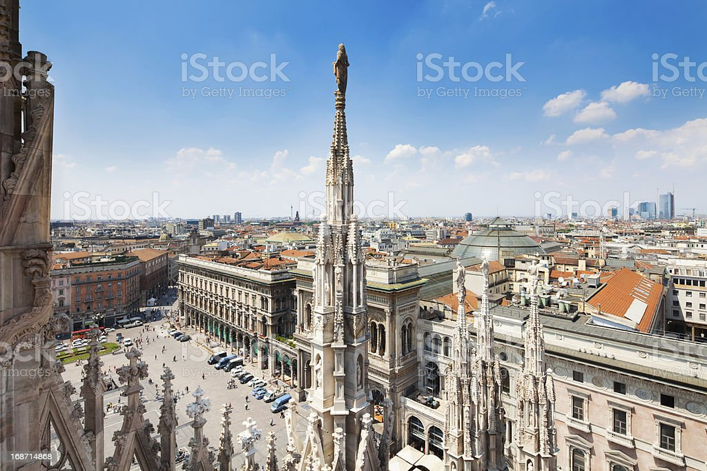 Piazza del Duomo in Milan, Italy royalty-free stock photo