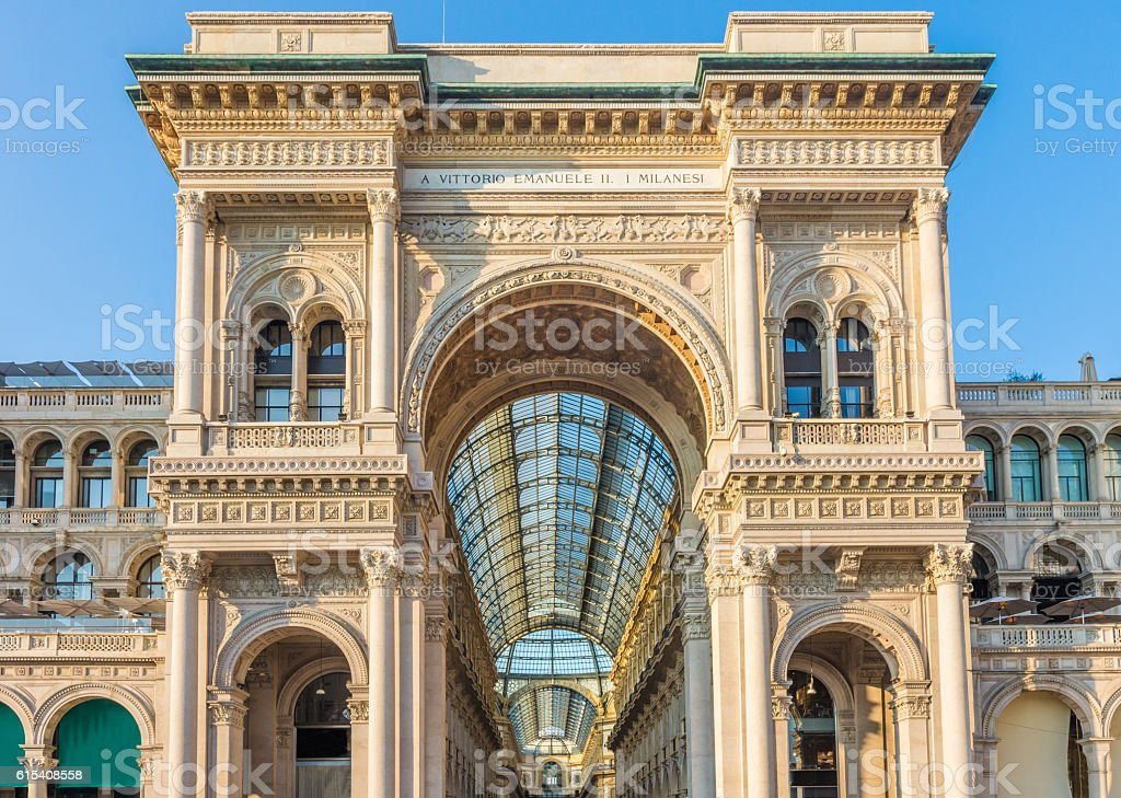 Piazza del Duomo Milan, Lombrady, Northern Italy. stock photo