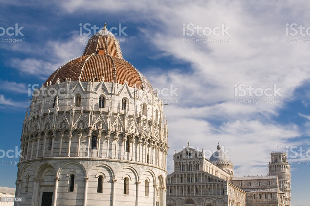 Piazza del Duomo, Pisa, Italy royalty-free stock photo