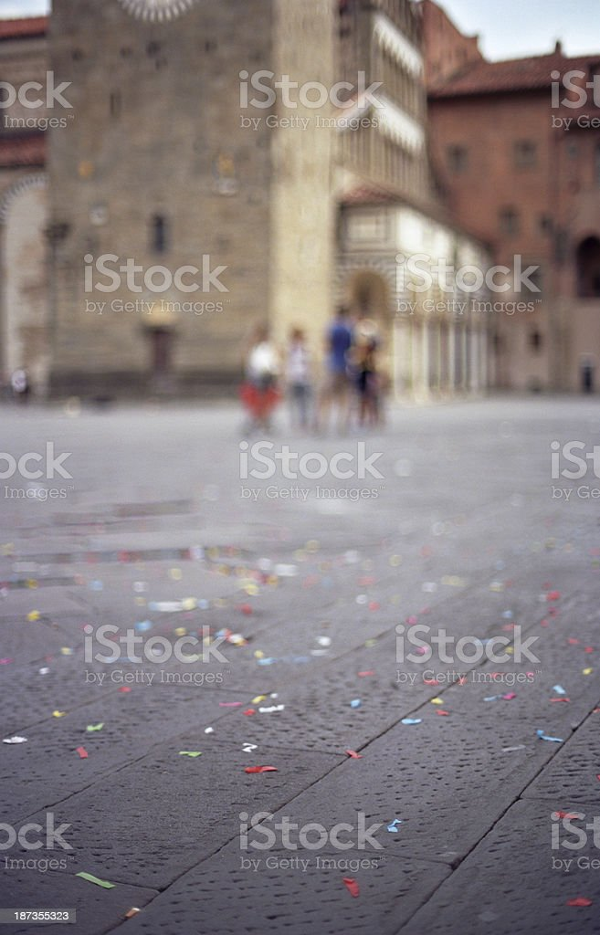 Piazza del Duomo, Pistoia royalty-free stock photo
