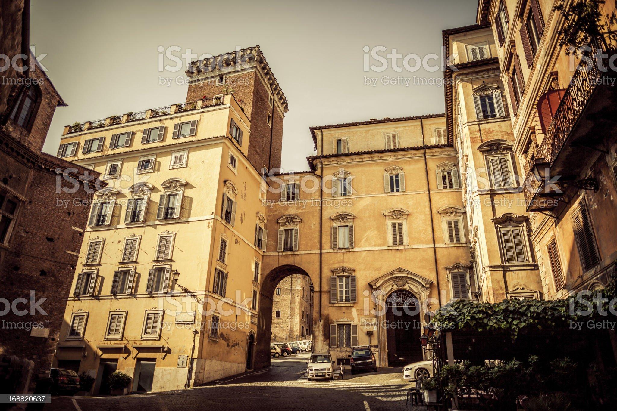 Piazza del Grillo at Monti distric, Rome royalty-free stock photo