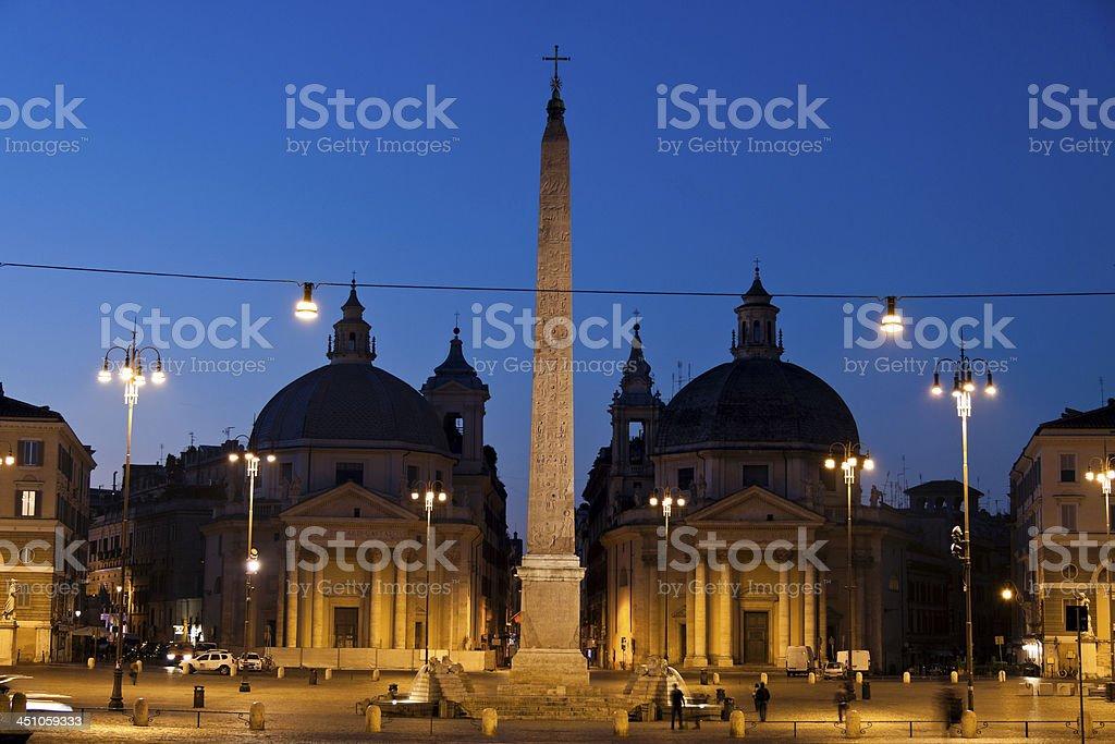 Piazza del Popolo and the Tridente. stock photo