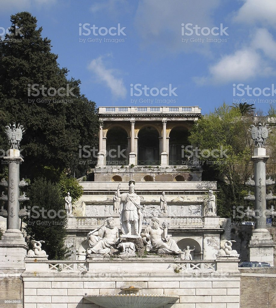 Piazza del Popolo at summer time stock photo