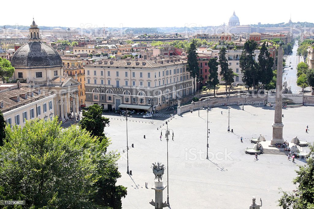 piazza del Popolo in Rome Italy royalty-free stock photo