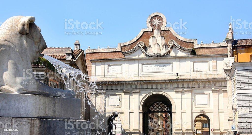 Piazza del Popolo in Rome Italy stock photo