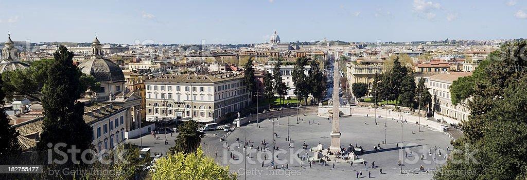 Piazza del Popolo in Rome Italy royalty-free stock photo