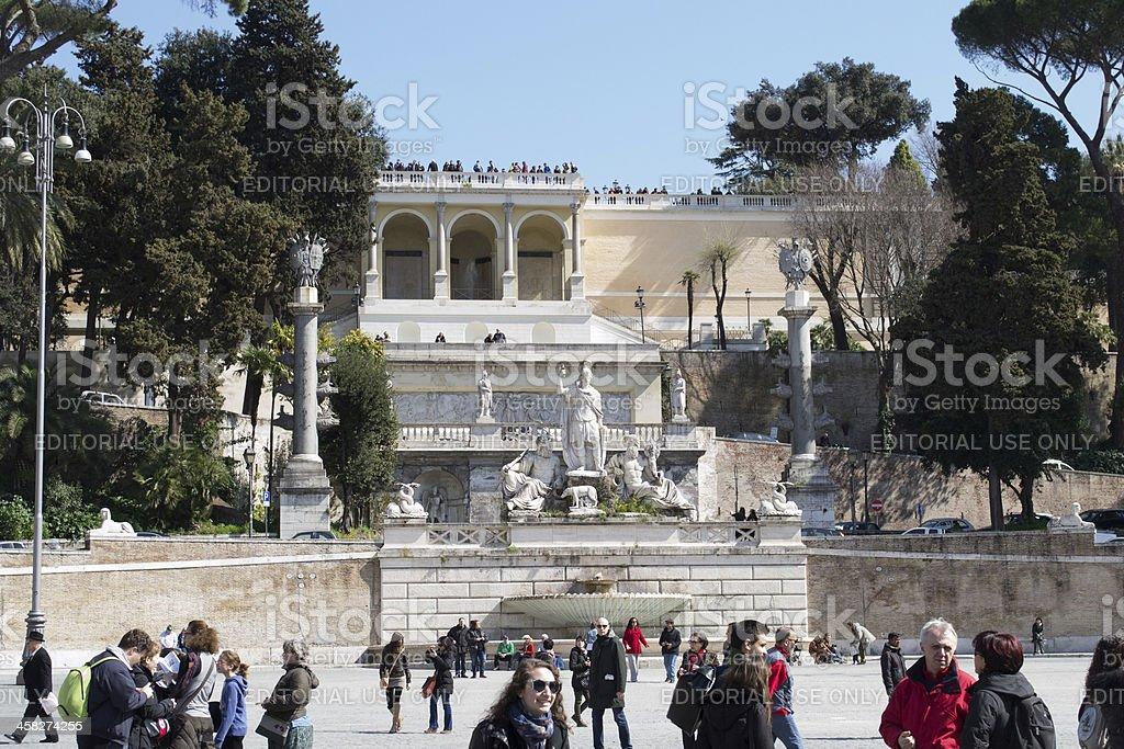 piazza del popolo in rome royalty-free stock photo