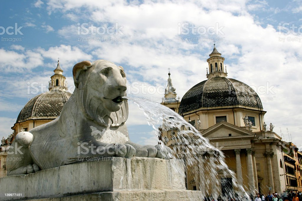 Piazza del Popolo royalty-free stock photo