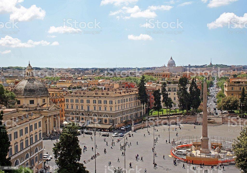 Piazza del Popolo stock photo