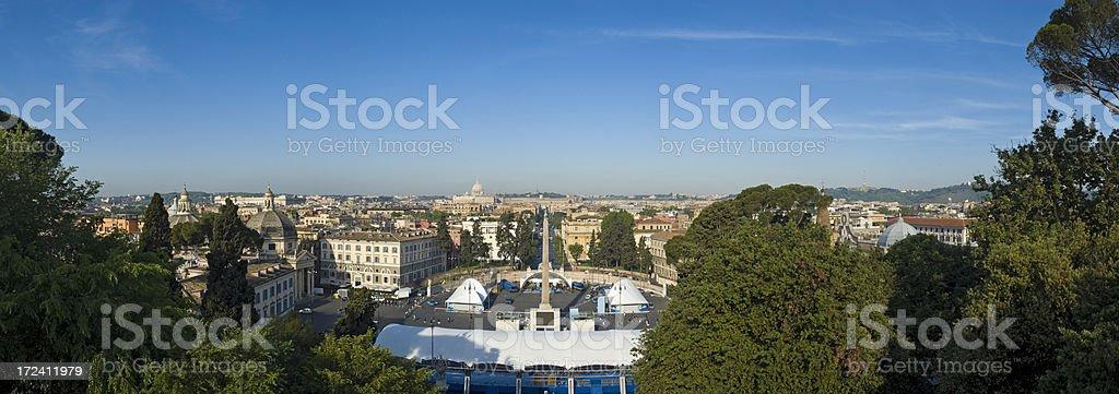 Piazza del Popolo Rome stock photo