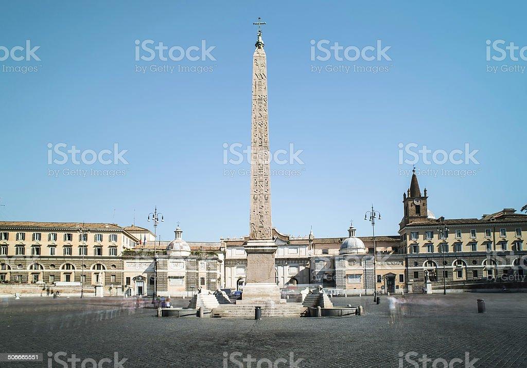 Piazza del Popolo, Rome stock photo