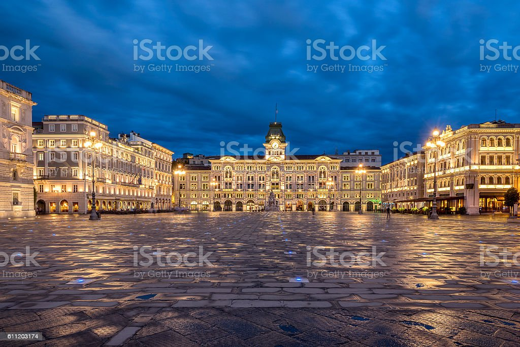 Piazza Dell Unita D'Italia in Trieste stock photo
