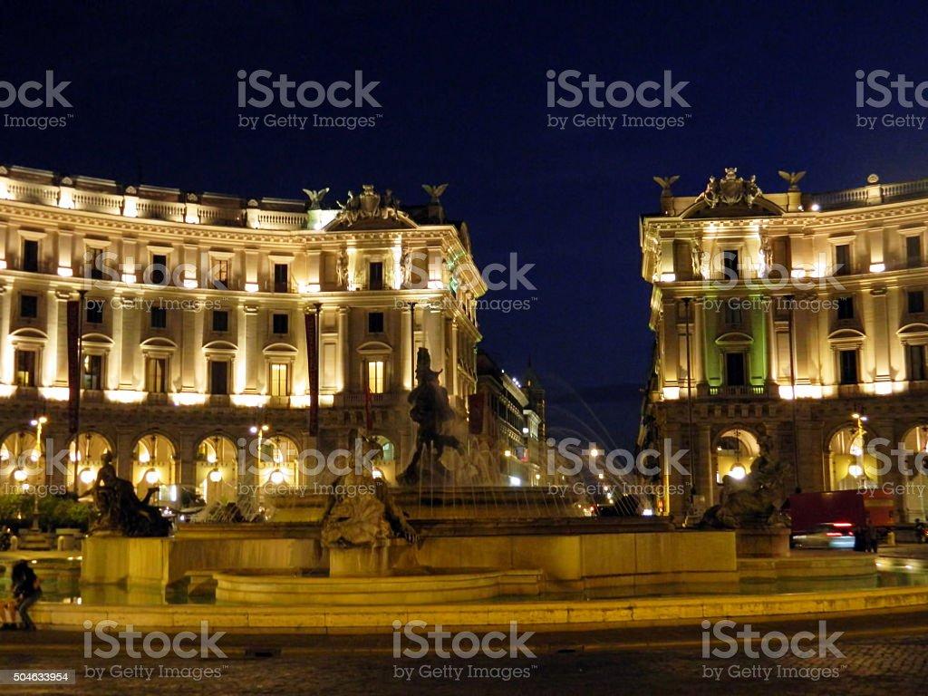 Piazza della Reppublica / Teatro Dell'Opera stock photo