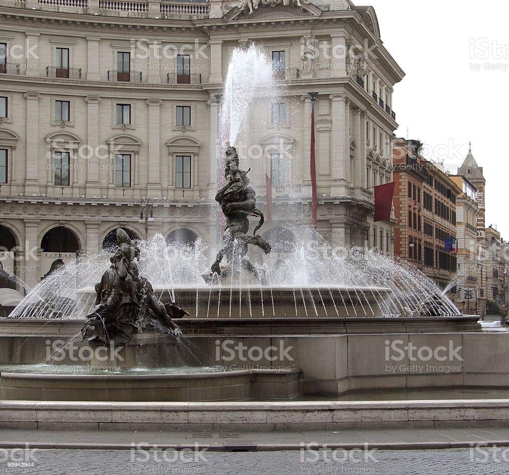 Piazza della Repubblica detail royalty-free stock photo