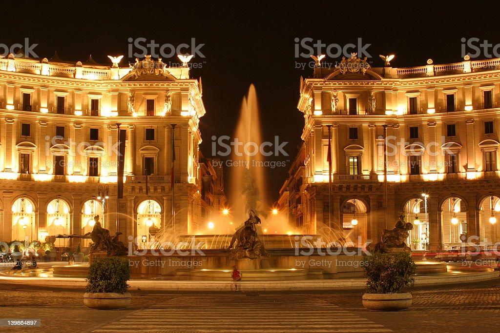 Piazza della Republica stock photo