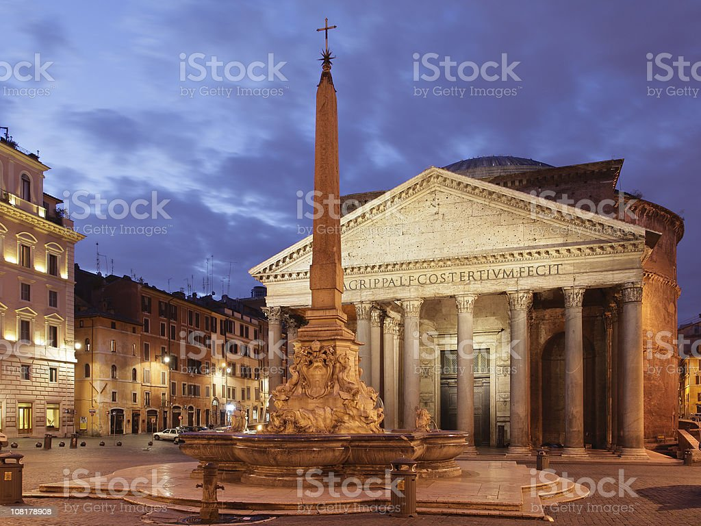 Piazza della Rotonda at Dusk royalty-free stock photo