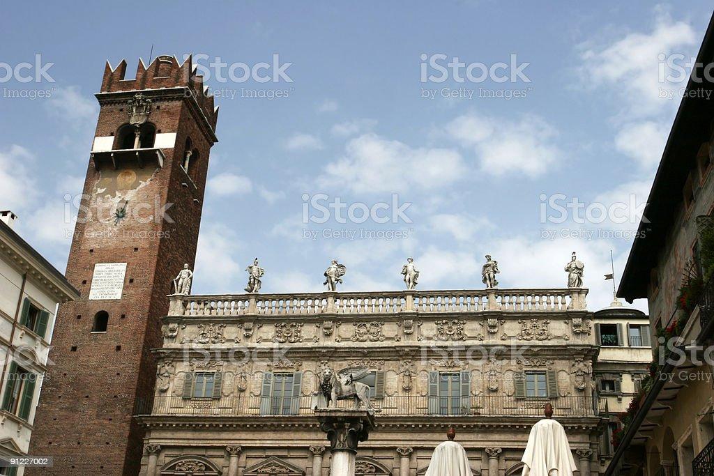 Piazza Delle Erbe stock photo
