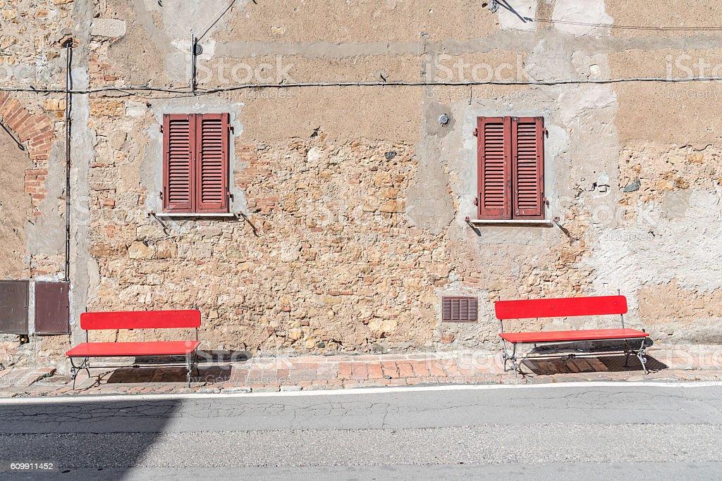 Piazza di Castagneto Carducci, Tuscany-Italy stock photo