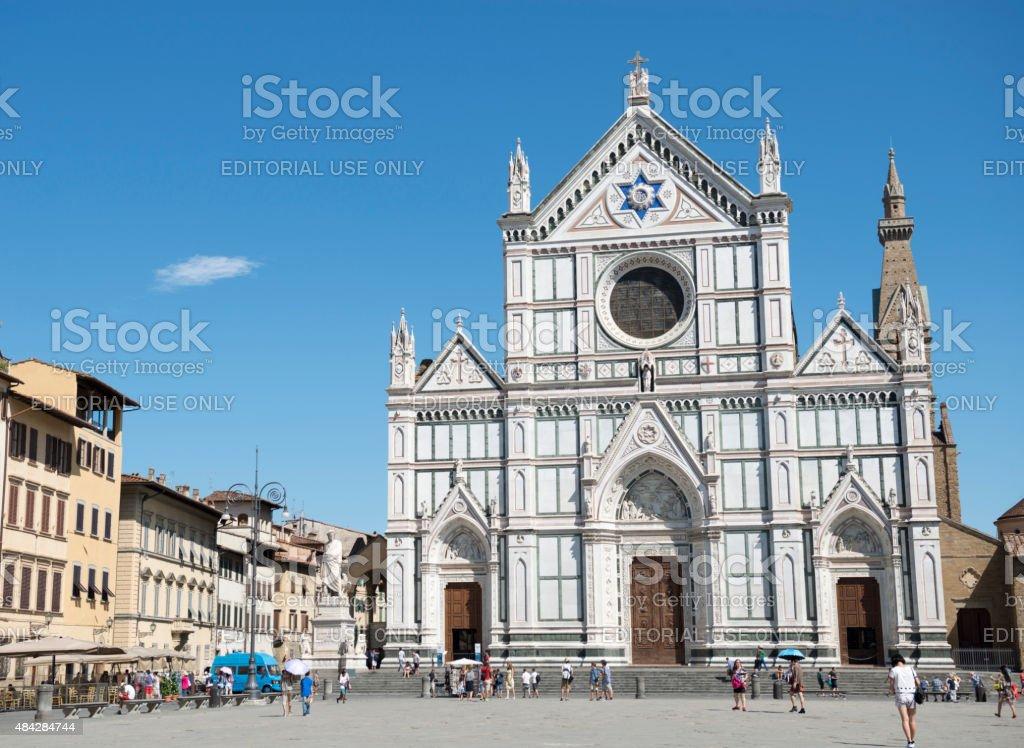 Piazza di Santa Croce, Florance stock photo