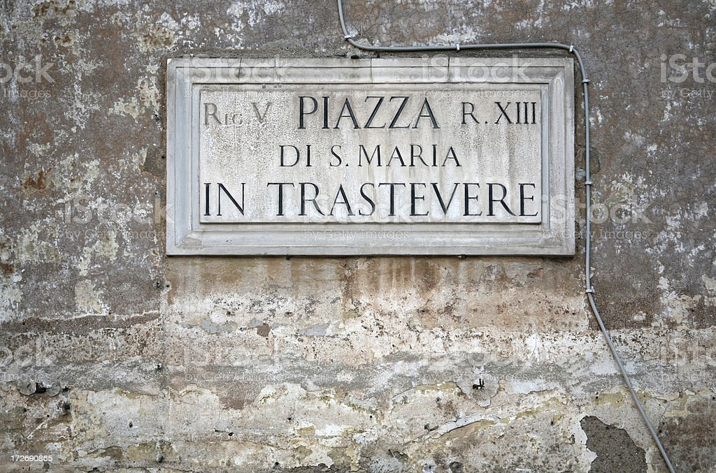 Piazza di Santa Maria in Trastevere  - XL royalty-free stock photo
