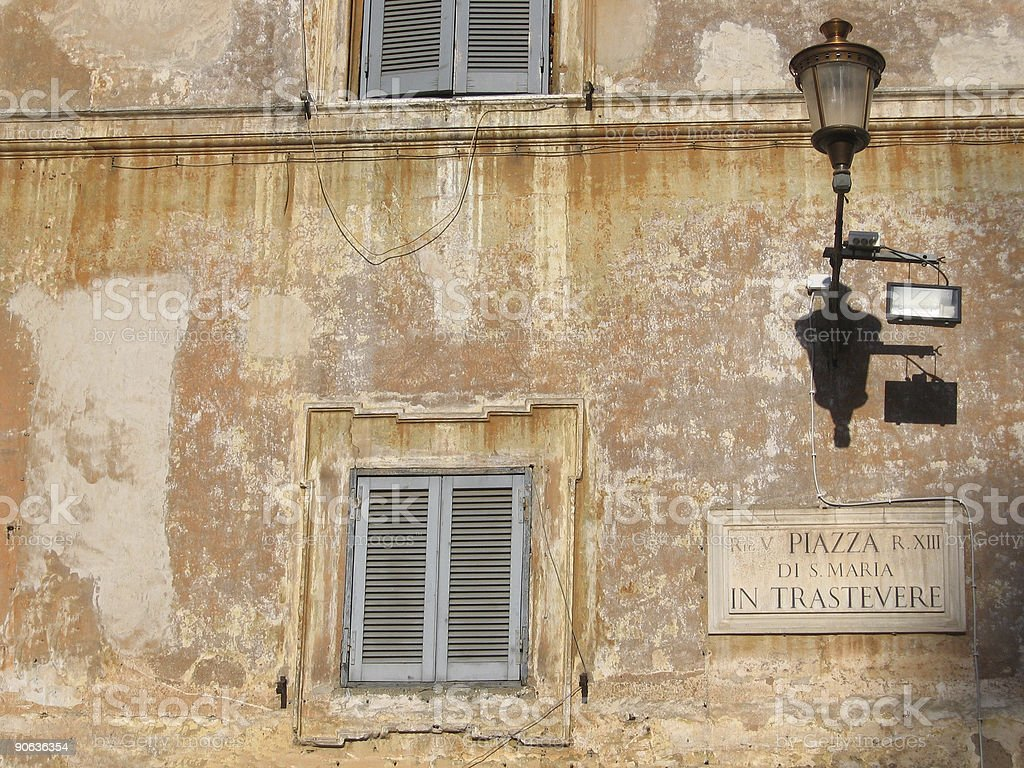 Piazza di Santa Maria, Trastevere stock photo