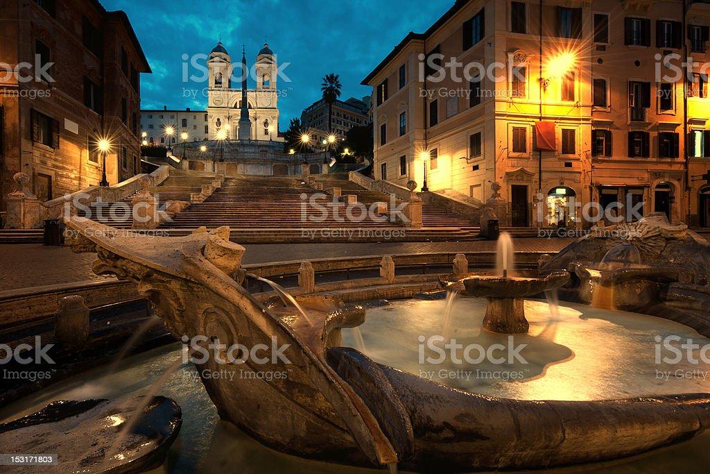 Piazza di Spagna royalty-free stock photo