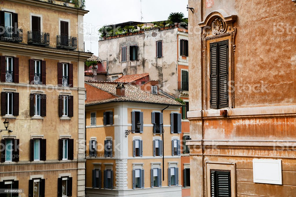 Piazza di Spagna Roma stock photo