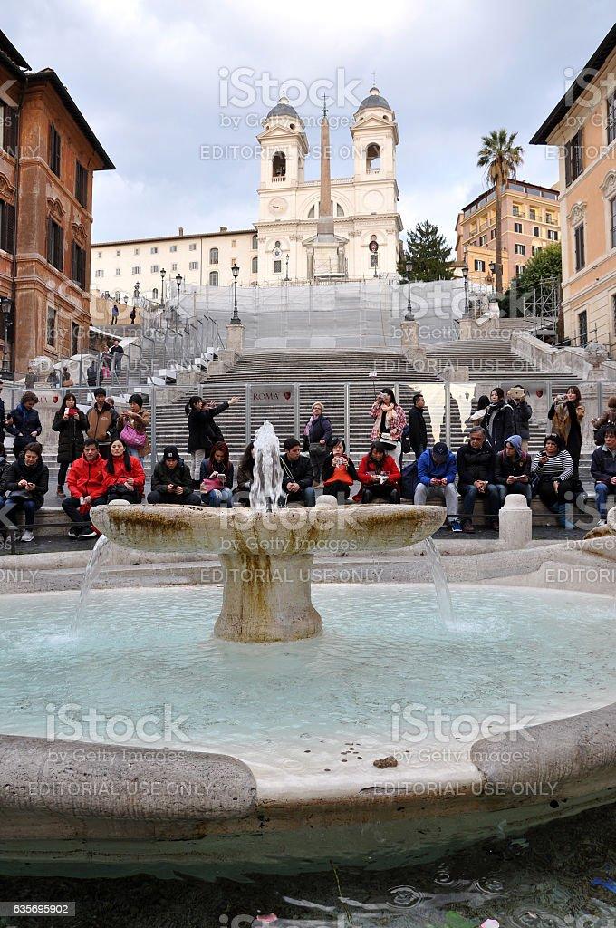 Piazza di Spagna, Rome Italy stock photo