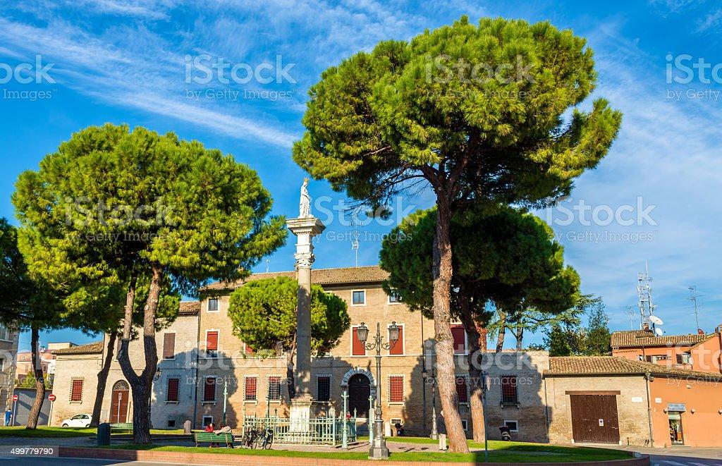 Piazza Duomo in Ravenna - Italy, Emilia-Romagna stock photo