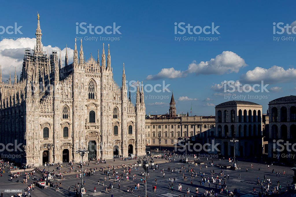 Piazza Duomo Milan Italy stock photo