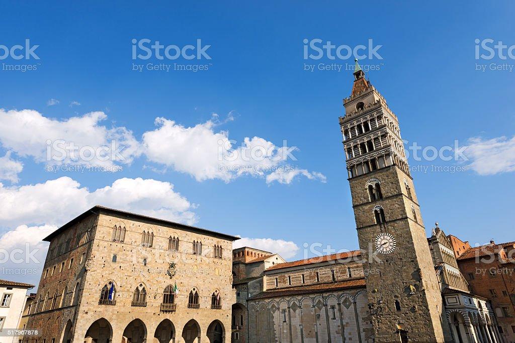 Piazza Duomo - Pistoia Tuscany Italy stock photo