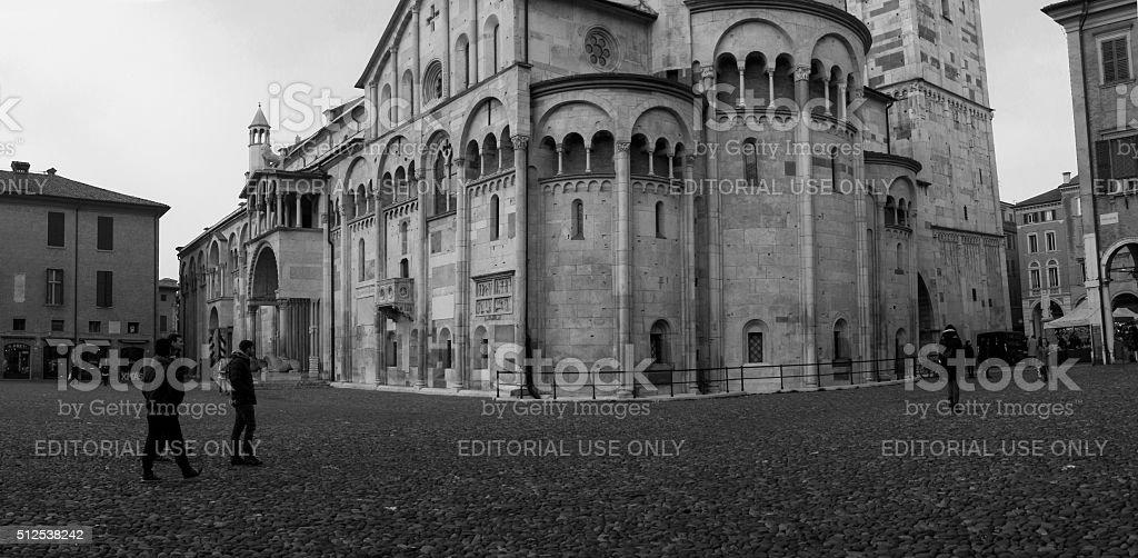 Piazza Grande and the Duomo (Modena, Italy): UNESCO World Heritage stock photo