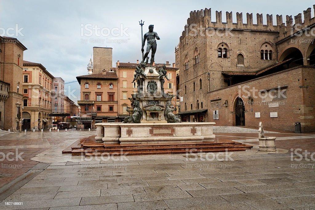Piazza Maggiore (Bologna) stock photo