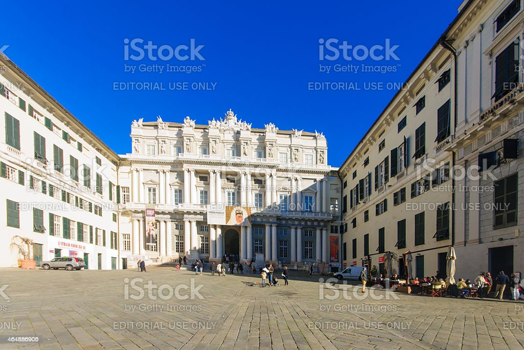 Piazza Matteotti, Genoa stock photo