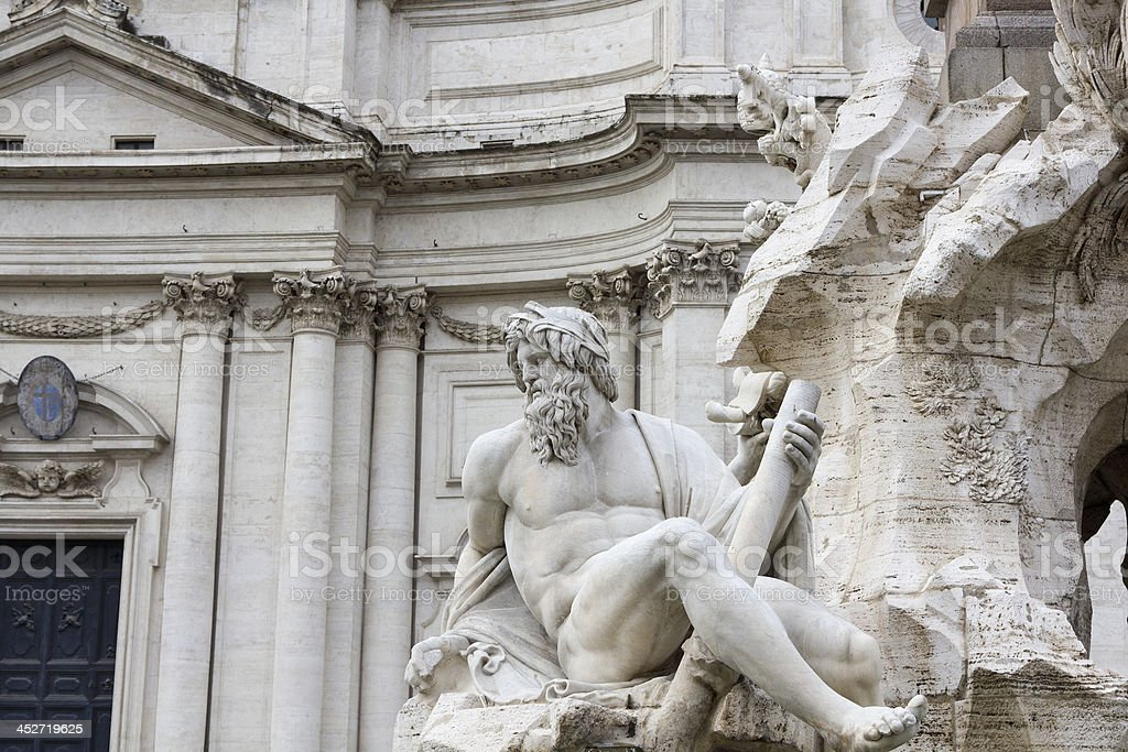 Piazza Navona (Rome, Italy) royalty-free stock photo