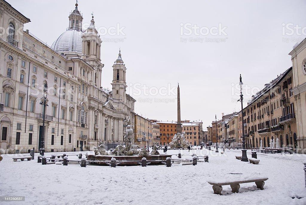 Piazza Navona  Roma royalty-free stock photo