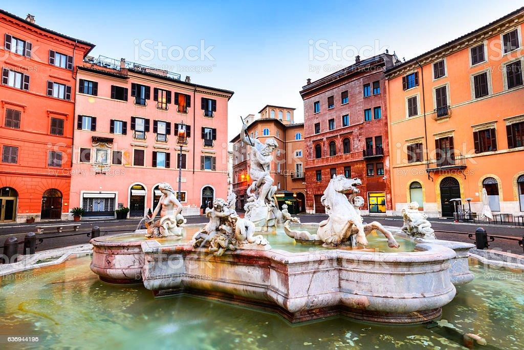 Piazza Navona, Rome, Italy stock photo